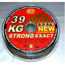 0209581 Шнур плетеный WFT NEW Strong GREEN, 0,25 мм, 39 кг, 300 м, ТЕМНО ЗЕЛЕНЫЙ 1D-C 811-025