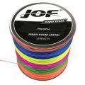 0209600 Шнур плетеный JOF PE (Китай). 4 нити, 0,37 мм, 50 lb, 22,6 кг, 300 м, многоцветный