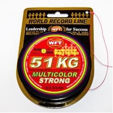 0209583 Шнур плетеный WFT NEW Strong GREEN, 0,32 мм, 51 кг, 300 м, ТЕМНО-ЗЕЛЕНЫЙ 1D-C 811-032