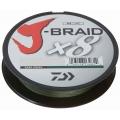 0209501 Шнур плетеный Daiwa J-Braid, 8 нитей, d=0,35 мм, 300 м, 36 кг, темно-зеленый