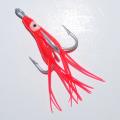 0182202 Крючок-тройник для пилькера. VMC (Франция) 10/0. Привлекающий элемент красный октопус