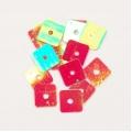 """93001 Разделитель бусин квадратный 7,5х7,5 мм, темно красный с эффектом """"хамелеон"""". 50 шт в упаковке"""