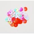 """93000 Разделитель бусин круглый, диаметр 6 мм. Цвет: оранжевый с эффектом """"хамелеон"""" . 50 шт в упаковке"""