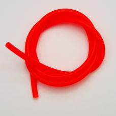 0180580 Трубка силиконовая, длина 1 м, внешний диаметр 8 мм, внутренний  5 мм, цвет - флюоресцентно-оранжевый