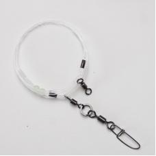 0121102 Шок-лидер универсальный, монофил d=1,2 мм, заводное кольцо и застежка, фурнитура до 70 кг