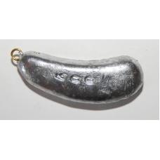 0198012 Грузило свинцовое, неокрашенное. Форма: боб. Вес 400 г