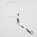 0121101 Шок-лидер с заводным кольцом, монофил d=1,2 мм, до 70 кг